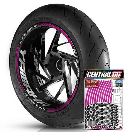 Adesivo Friso de Roda M1 +  Palavra XTZ 125 E + Interno G Yamaha - Filete Rosa