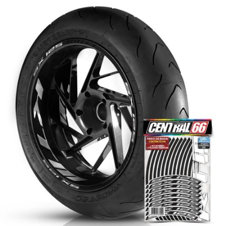 Adesivo Friso de Roda M1 +  Palavra SX 125 + Interno G KTM - Filete Preto