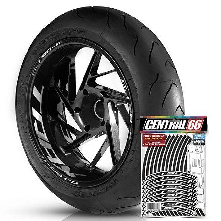 Adesivo Friso de Roda M1 +  Palavra Traxx CJ 50-F + Interno G TRAXX - Filete Preto