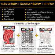 Adesivo Friso de Roda M1 +  Palavra SCRAMBLER FULL THROTTLER + Interno P Ducati - Filete Vermelho Refletivo
