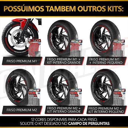 Adesivo Friso de Roda M1 +  Palavra Speed Twin 1200 + Interno P Triumph - Filete Rosa