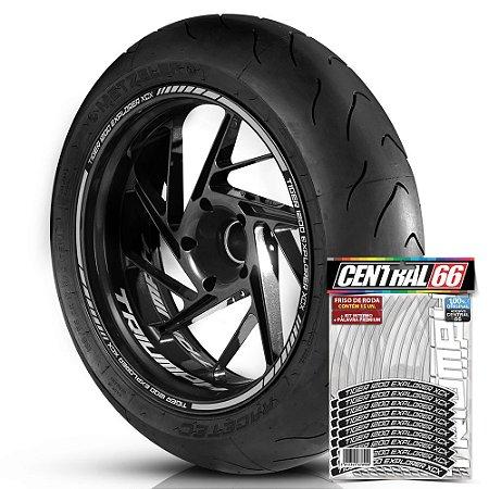 Adesivo Friso de Roda M1 +  Palavra TIGER 1200 EXPLORER XCX + Interno P Triumph - Filete Prata Refletivo