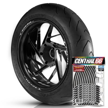 Adesivo Friso de Roda M1 +  Palavra TRAIL + Interno P KTM - Filete Preto