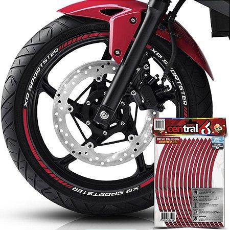 Adesivo Friso de Roda M1 +  Palavra XR SPORTSTER + Interno G Harley Davidson - Filete Amarelo