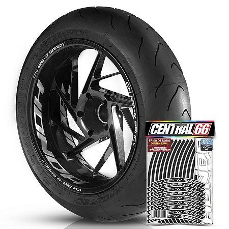 Adesivo Friso de Roda M1 +  Palavra CH 125 R SPACY + Interno G Honda - Filete Preto