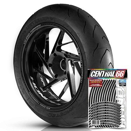 Adesivo Friso de Roda M1 +  Palavra XR 250 TORNADO + Interno P Honda - Filete Preto
