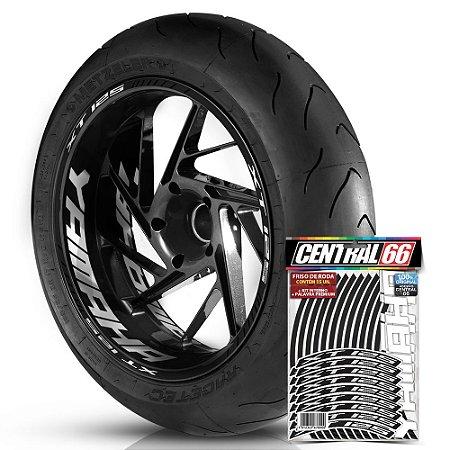 Adesivo Friso de Roda M1 +  Palavra XT 125 + Interno G Yamaha - Filete Preto