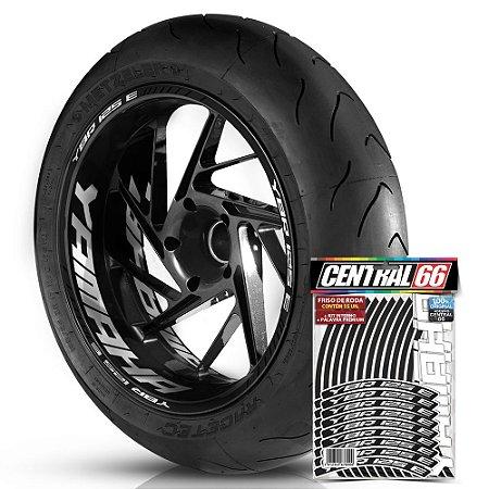 Adesivo Friso de Roda M1 +  Palavra YBR 125 E + Interno G Yamaha - Filete Preto