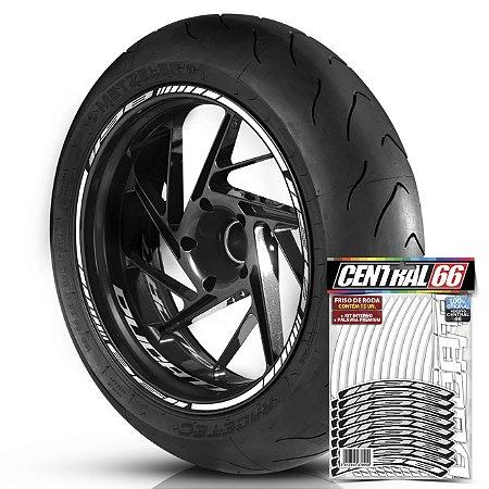 Adesivo Friso de Roda M1 +  Palavra 1198 + Interno P Ducati - Filete Branco