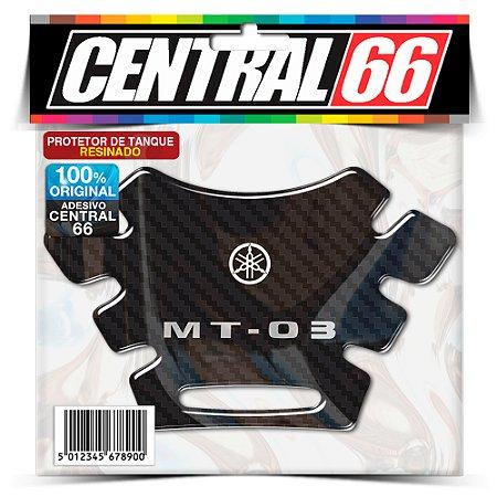 Tankpad Yamaha Antigo MT-03 - Carbono Preto Adesivo Protetor Resinado