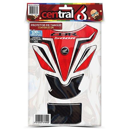 Protetor de Tanque Tankpad Honda CBR 500R Vermelho Resinado Emborrachado Alto Relevo