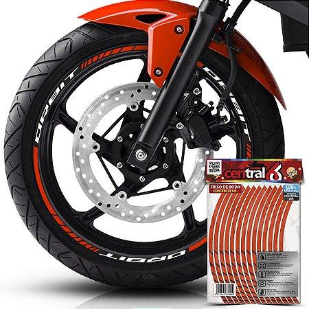 Frisos de Roda Premium Jonny ORBIT Refletivo Laranja Filete