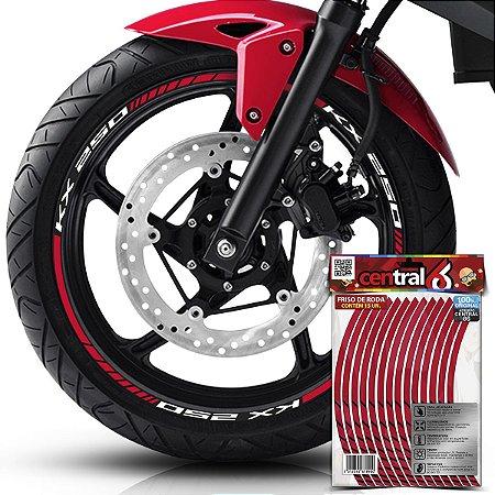 Frisos de Roda Premium Kawasaki KX 250 Vinho Filete