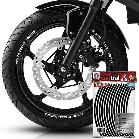Frisos de Roda Premium KTM 200 300 Preto Filete