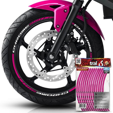 Frisos de Roda Premium Royal Enfield CHROME Rosa Filete