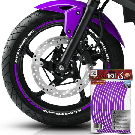 Frisos de Roda Premium Triumph SCRAMBLER Roxo Filete