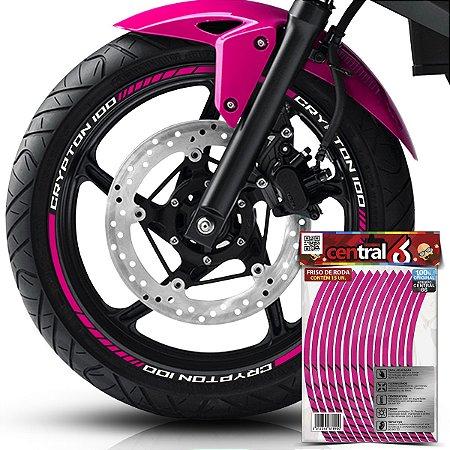 Frisos de Roda Premium Yamaha CRYPTON 100 Rosa Filete