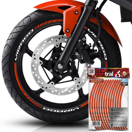 Frisos de Roda Premium Yamaha VIRAGO Refletivo Laranja Filete