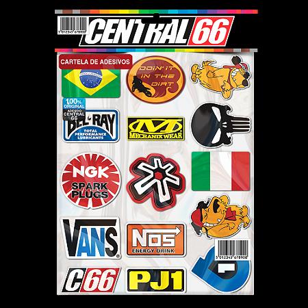 Cartela Adesivos Motocross M1 Individual Nº2 Patrocinios