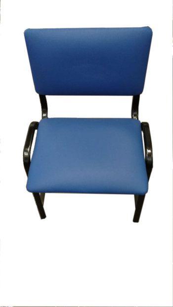 Cadeira de Aço com Assento e Encosto Estofado - Salutem Móveis Hospitalares