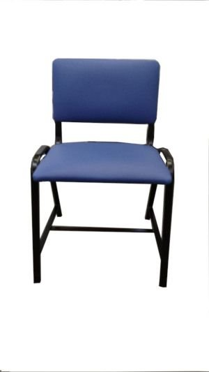 Cadeira de Aço com Assento e Encosto Estofado Obeso - Salutem Móveis Hospitalares