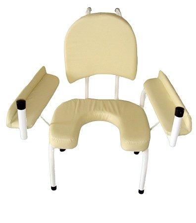 Cadeira para Parto Estofada - Salutem Móveis Hospitalares