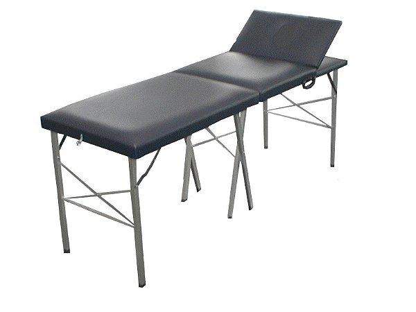 Mesa Para Massagem Mala Dobrável com Cabeceira Móvel - Salutem Móveis Hospitalares