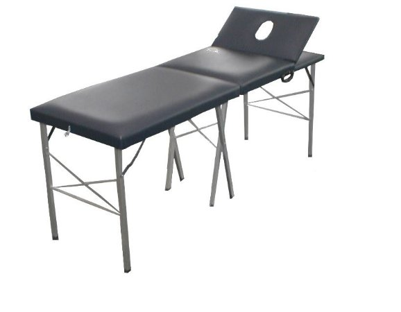 Mesa Para Massagem Mala Dobrável com Cabeceira Móvel com Orifício - Salutem Móveis Hospitalares