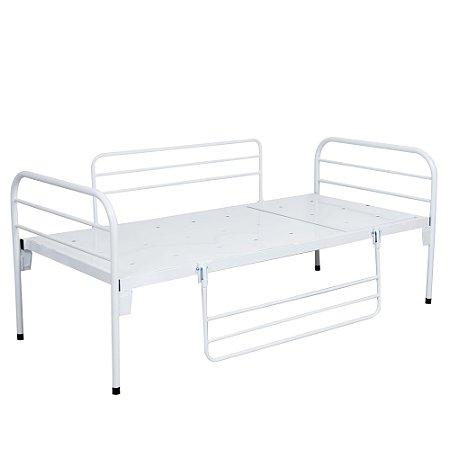 Cama Hospitalar Simples Sem Cabeceira Móvel e Grades S-0220 - Salutem