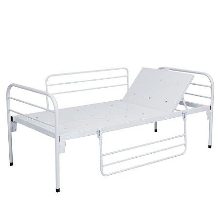 Cama Hospitalar Simples Com Cabeceira Móvel e Grades S-0221 - Salutem Hospitalares