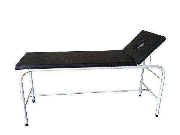 Maca/Mesa Para Massagem com Orifício Estrutura em Pintura Epóxi - Salutem
