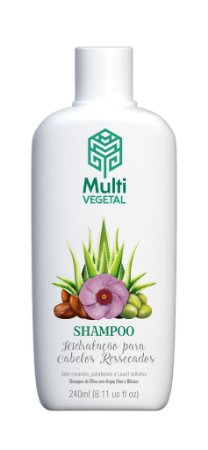 Shampoo vegano Multi Vegetal - Oliva com argan 240ml