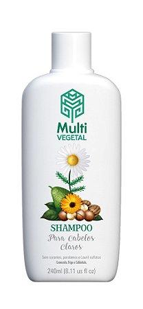 Shampoo vegano Multi Vegetal - Camomila, trigo e calêndula 240ml