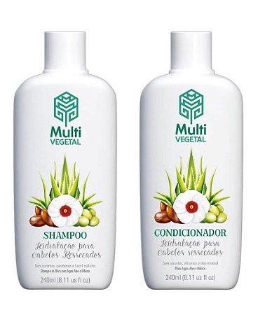 Shampoo e condicionador veganos Multi Vegetal – Oliva com argan 240ml