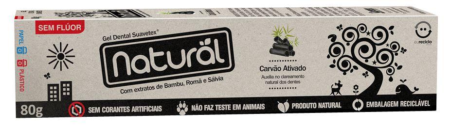 Creme dental vegano, orgânico e natural Suavetex - Carvão Ativado 80g