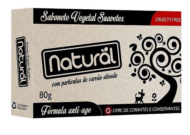 Sabonete vegano e natural Suavetex - Carvão Ativado 80g