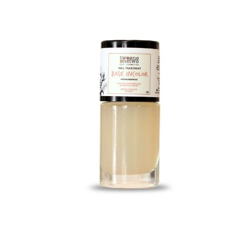 Esmalte base incolor hipoalergênico e vegano Twoone Onetwo