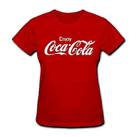Camiseta Baby Look Enjoy Coca-cola - 100% Algodão