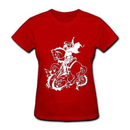 Camiseta Baby Look - São Jorge - 100% Algodão