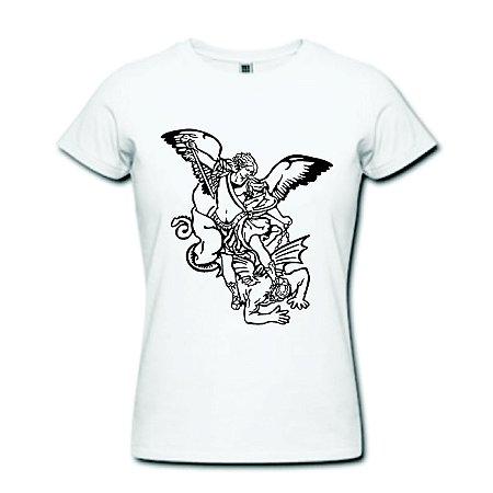 Camiseta Baby Look - Arcanjo São Miguel - 100% Algodão