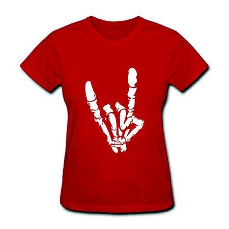 Camiseta Baby Look - Heavy Metal - 100% Algodão