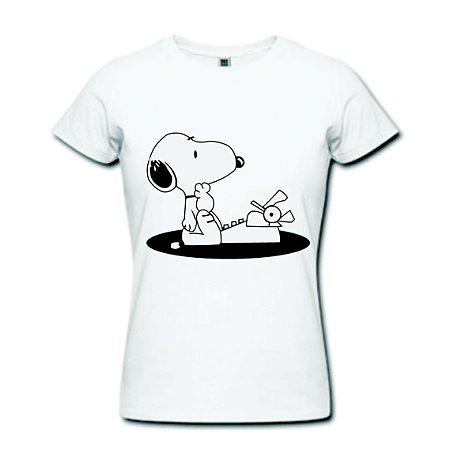 Camiseta Baby Look - Snoopy - 100% Algodão