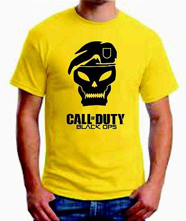 Camiseta Call Of Duty Black Ops 100% Algodão