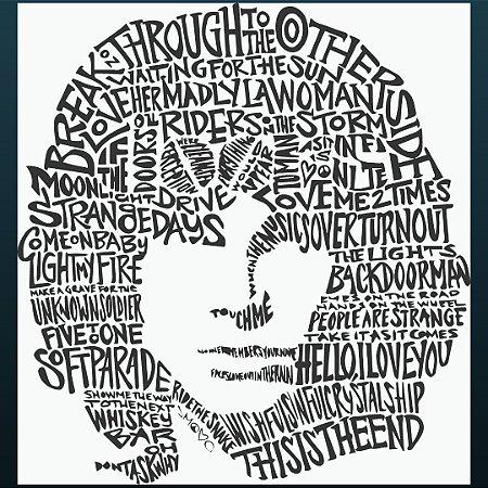 Camiseta Jim Morrison - 100% Algodão Unissex e Baby Look