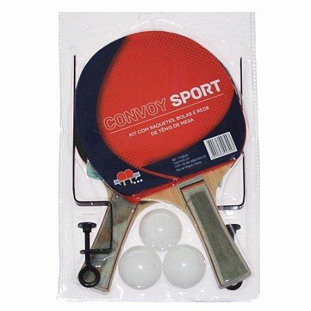 219747ef0 Kit Ping Pong 2 Raquetes 3 Bolas Suporte E 1 Rede Convoy - Guia do ...