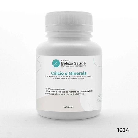 Cápsulas Reposição de Cálcio e Minerais - 180 doses