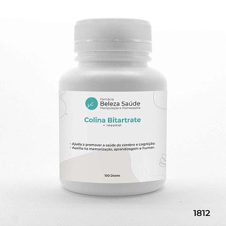 Colina Bitartrate + Inositol - Saúde do Cérebro - 100 doses