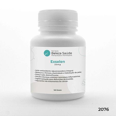 Exselen 50mg - Hidratação e Brilho do Cabelo - 120 doses