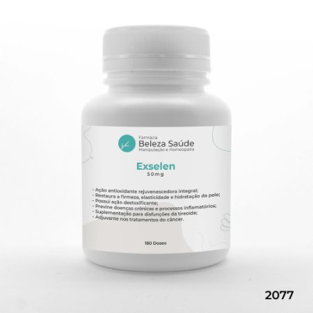 Exselen 50mg - Hidratação e Brilho do Cabelo - 180 doses