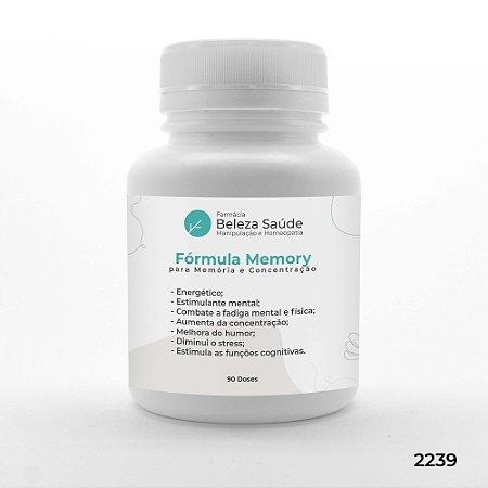 Fórmula Memory - Mais Memória e Concentração - 90 doses
